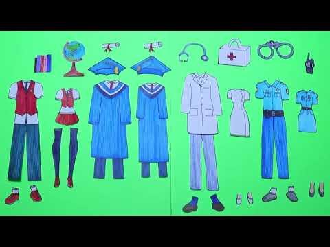Paper doll dressup—Professional dressup(学生 医生 警察)