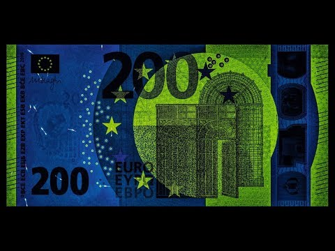 The Great Security Features of the NEW 200 EURO Banknote!