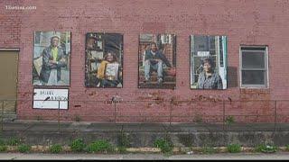 Macon photographer creates mural honoring Pleasant Hill community