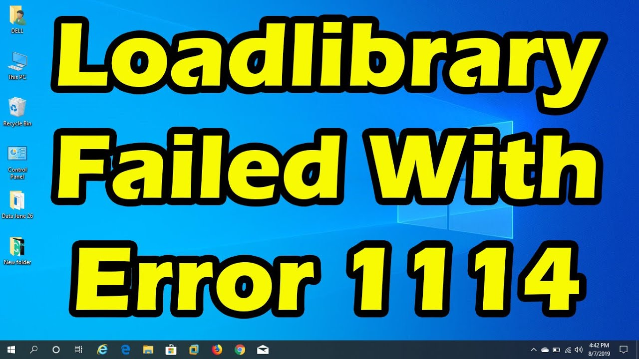 Fix: loadlibrary failed with error 1114 a dynamic link library (dll)  initialization