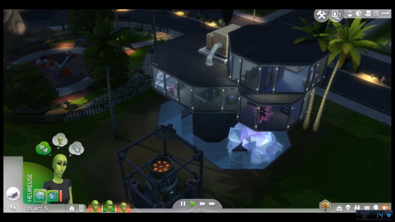 sims 4 8 construction maison futuriste alien youtube. Black Bedroom Furniture Sets. Home Design Ideas