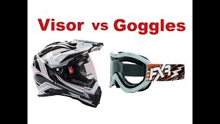 Motorcycle Safety Tips - Visor vs Goggles!