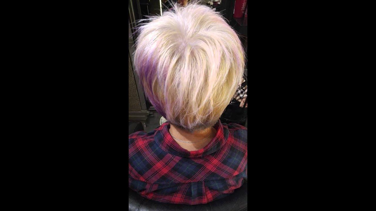 ash blonde & violet blue ugly