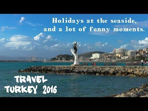 Отдых в Турции 2016. Курортный город Кушадасы, мы, покупка сувениров, весёлые моменты и много моря)