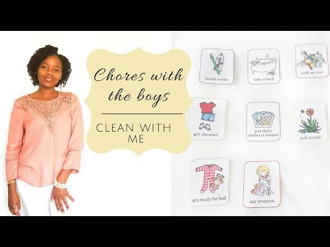 CLEAN WITH ME   CHORES FOR KIDS   JOB CARDS FOR KIDS