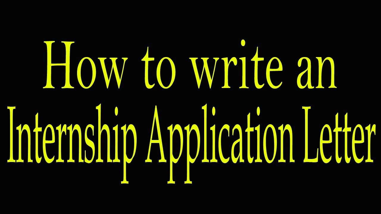 A sample an internship application letter