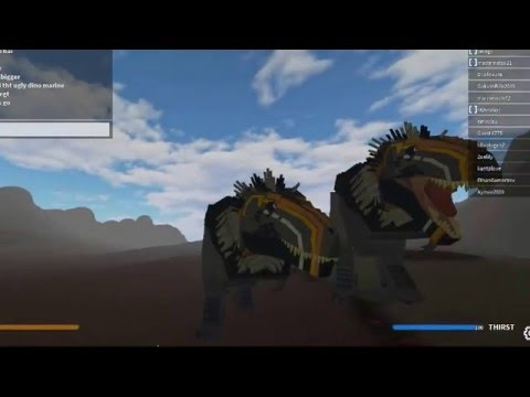 roblox gameplay (hell creek) frilled t rex!!!!!!!!!!!!!!!!!!!!!!!!
