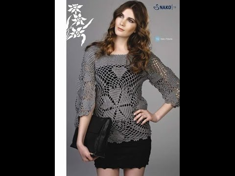 e39a7b264 Blusas em Crochê com Gráficos Modelos Variados. Katia Ribeiro