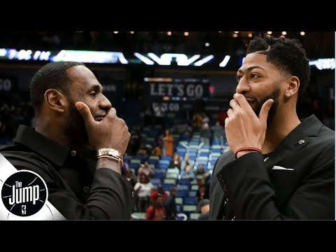 Anthony Davis 'should really want to be with LeBron' on the Lakers - Brian Windhorst   The Jump