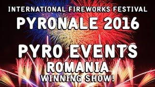 Pyronale 2016: Pyro Events - Romania - Winning Fireworks show! Feuerwerk Rumänien