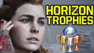 Horizon Zero Dawn TROPHIES REVEALED - FULL ANALYSIS + NEW INFO (Horizon Zero Dawn Trophy list)