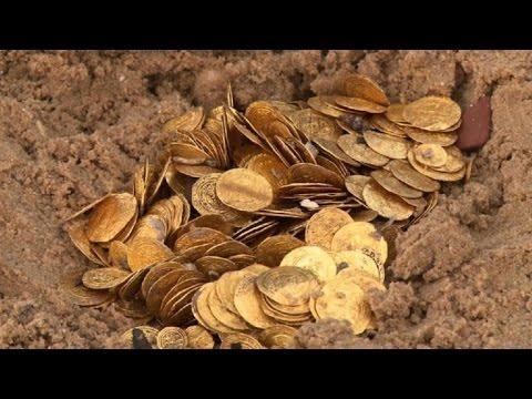 Un tesoro de oro bajo el mar israelí