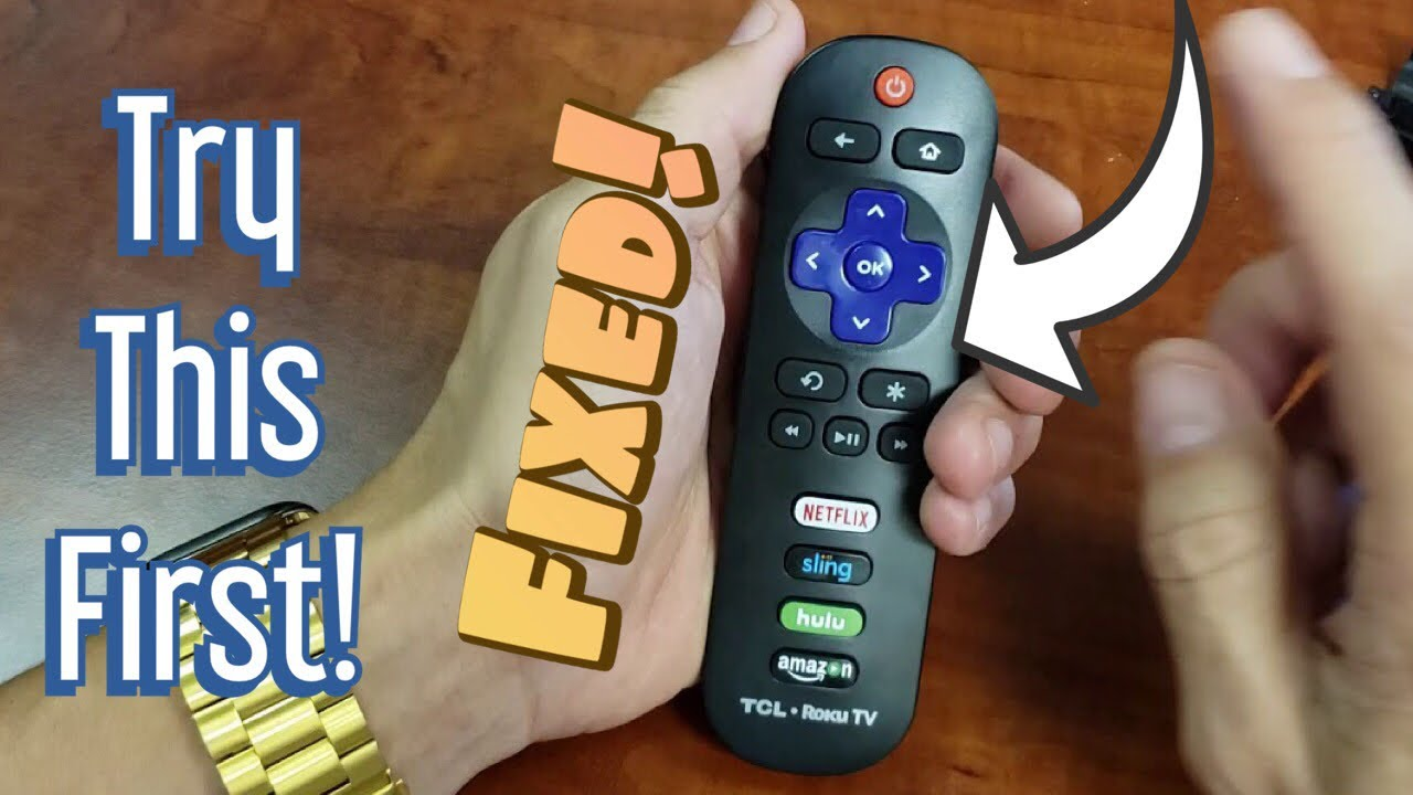 TCL Roku Smart TV Remote Control Fixed! Not Working, Unresponsive or  intermittently, Ghosting, etc