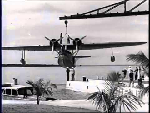 William K  Vanderbilt, Jr's Seaplane At Fishers Island, Florida 1934