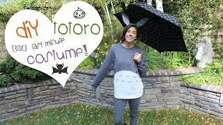DIY Last Minute Totoro Halloween Costume!