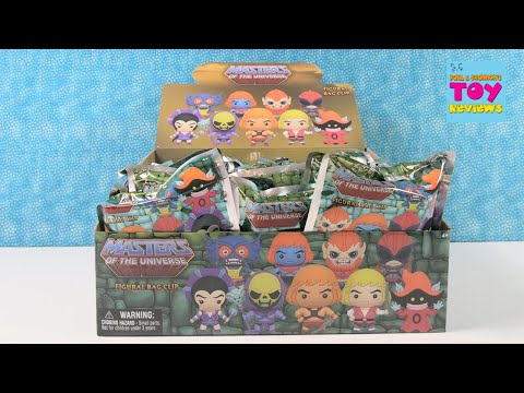 He Man Masters Of The Universe Figural Bag Clips Blind Bag Opening Review   PSToyReviews