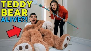 TEDDY BEAR ALIVE PRANK ON MY MOM SO FUNNY The Royalty Family