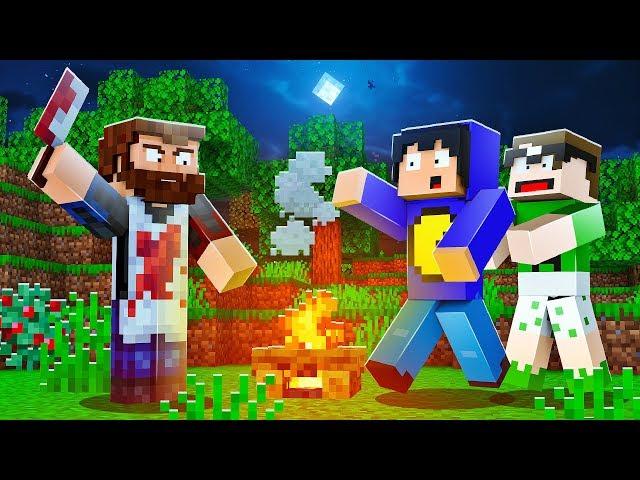 Minecraft: ESCONDIDOS DO AÇOUGUEIRO ASSASSINO NA FLORESTA!