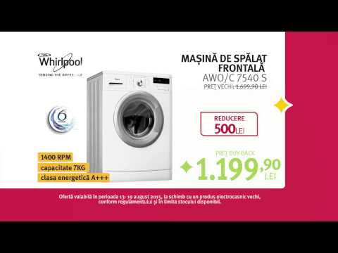 Reclama ALTEX Black Friday de Vara 2015 Masina de spalat Whirpool