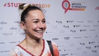 Maria Paseka (RUS) Interview 2019 World Championships - Podium Training