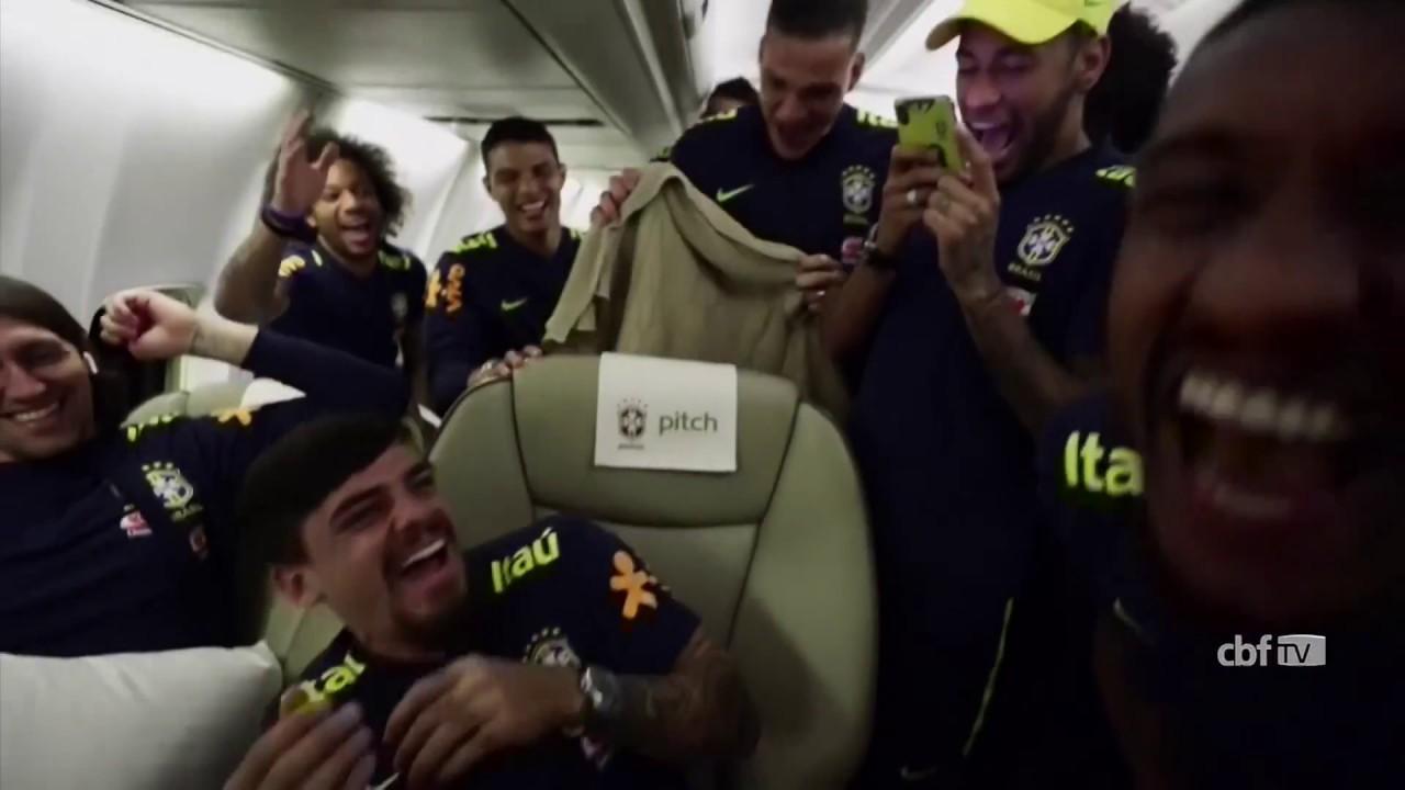 FIFA World Cup 2018: Neymar dances into hotel as Brazil arrive in Russia