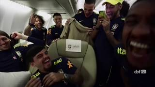 FIFA World Cup 2018: Neymar dances into hotel as Brazil arrive in Russia