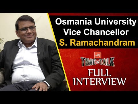 Osmania University Vice Vice-Chancellor Ramachandram Exclusive Interview | YOYO Time To Talk