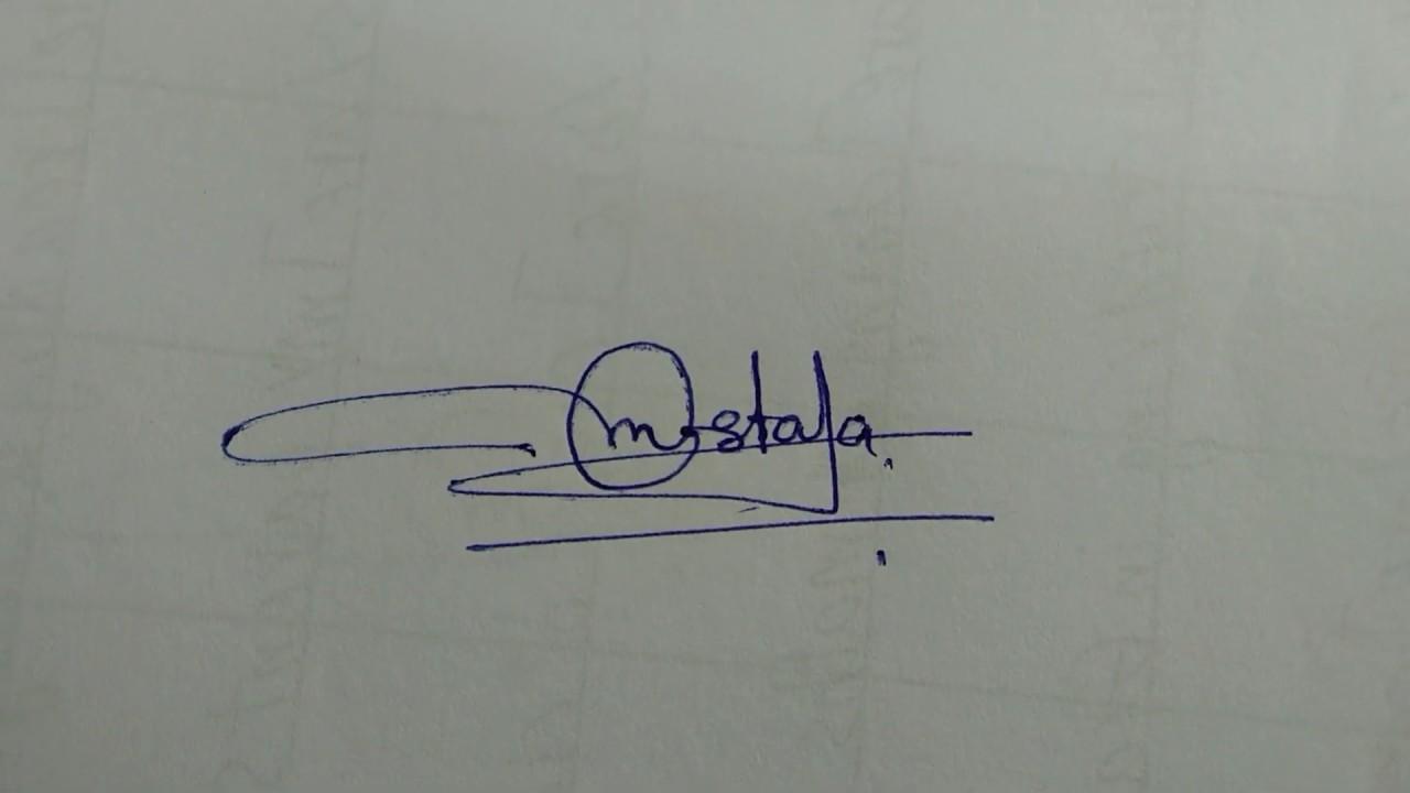 Mostafa Name Signature Youtube