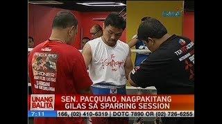 UB: Sen. Pacquiao, nagpakitang gilas sa psarring session