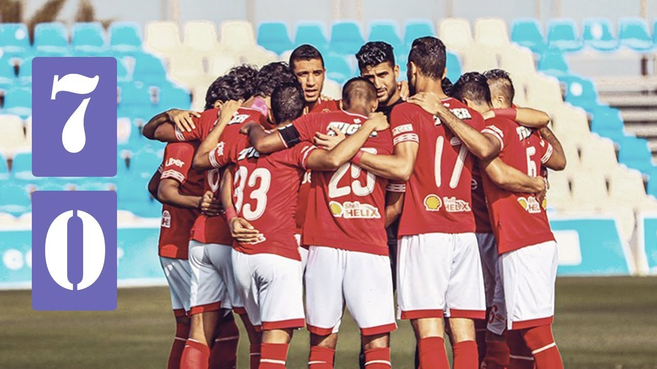 اهداف مباراة الاهلى واوكام الاسباني الودية ( 7 - 0 ) حفله اهداف من لاعبي الاهلى