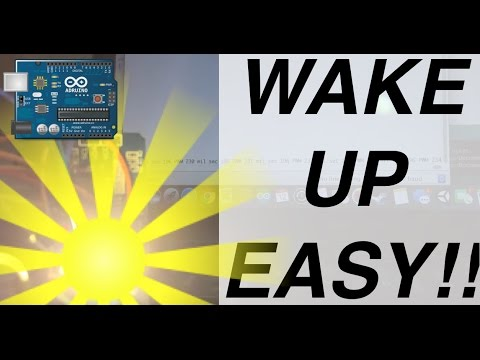 Arduino Tutorial!! DIY: How To Make a SUNRISE Alarm Clock (with arduino ,  rtc , super bright led)