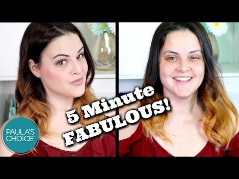 5 Minute Makeup CHALLENGE Featuring Paula's Choice GORGEOUS ON THE GO Palette!   Jen Luvs Reviews