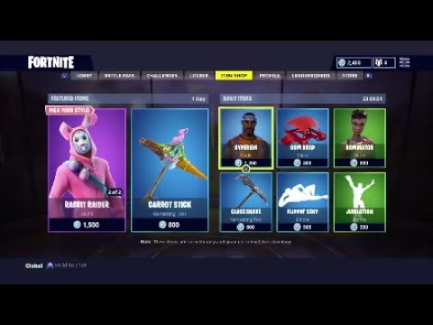 NEW EASTER OUTFITS -NEW BUNNY BRAWLER RABBIT RAIDER  (FORTNITE DAILY STORE UPDATE 1-4-18)