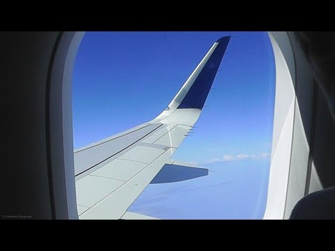 AEGEAN Airbus A320ceo Sharklets Full Flight ATH-LCA - GoPro Wing View