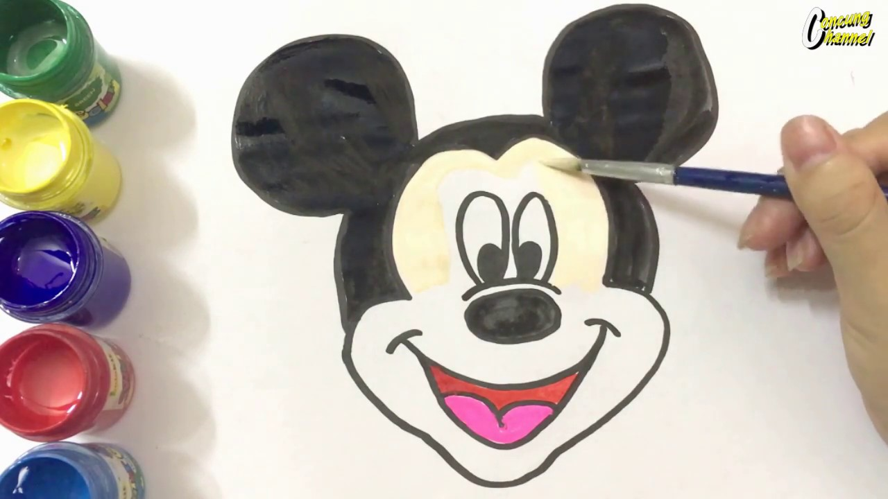 Chuột Mickey – Hướng dẫn vẽ chuột Mickey   How to draw mickey mouse for kids