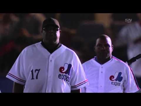 올림픽 스타디움에서 엑스포스 선수들의 입장 (Montreal Expos)
