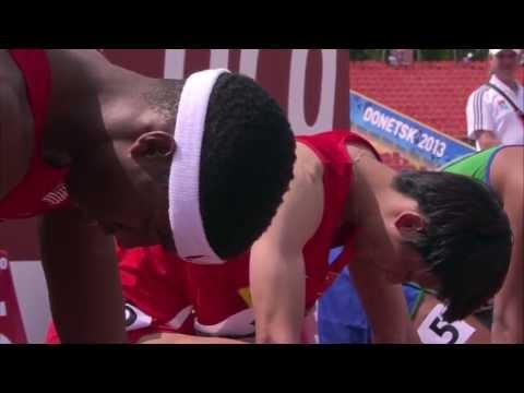 WYC Donetsk 2013 - 110 m Hurdles Boys - Heat 5