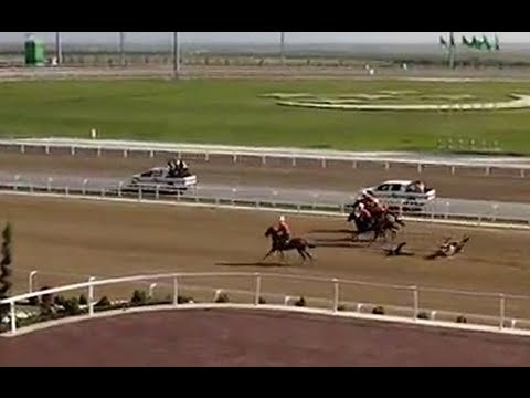 Turkmen president falls during horse race