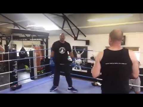 Sparring with Tim Witherspoon