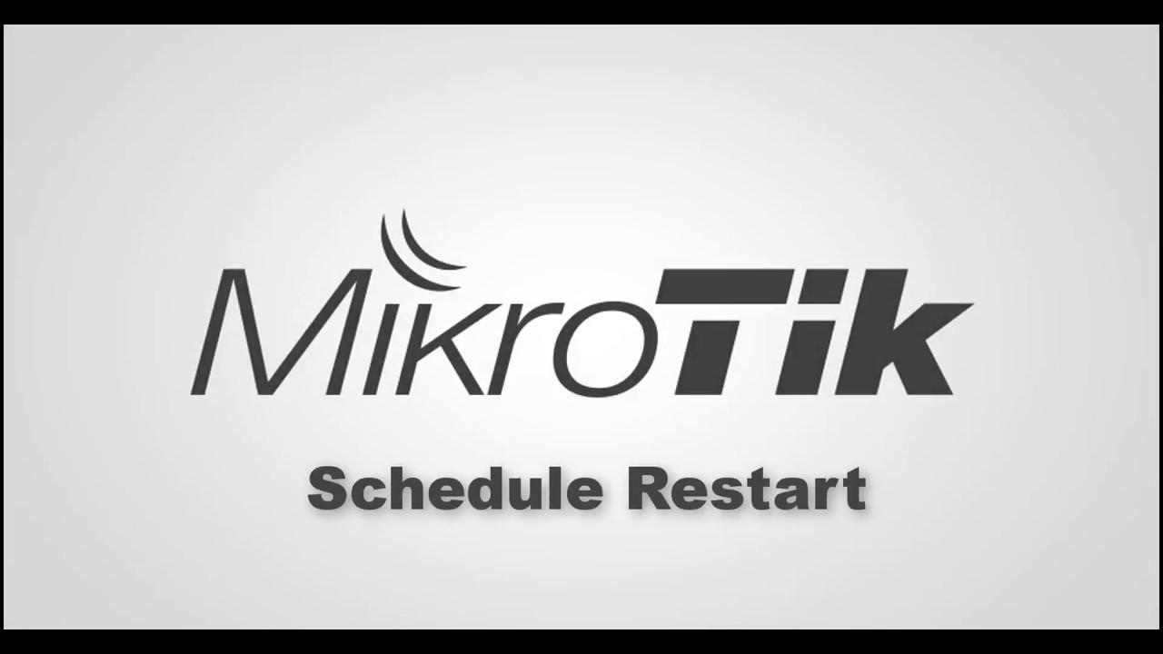 Mikrotik Schedule Reboot /Restart set less then one miniutes !