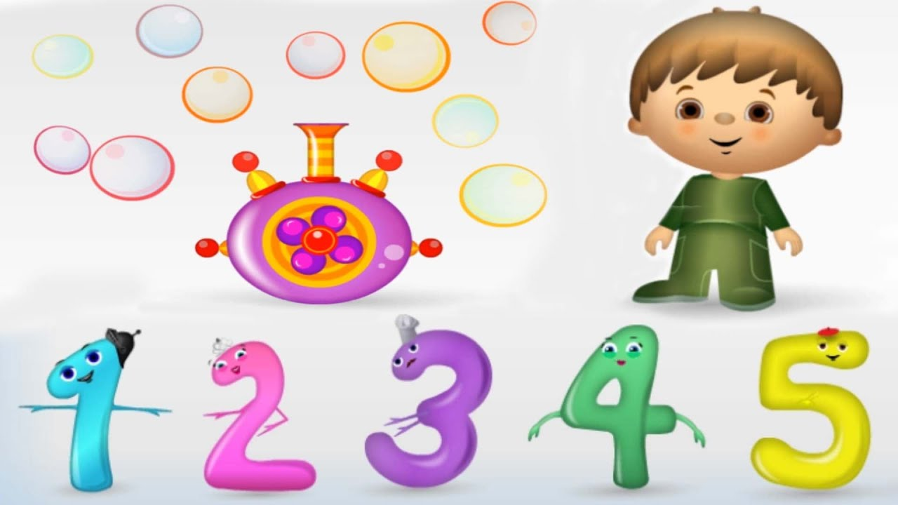 Numbers For Kids Counting 1 To 10 Fun Math Game Learning Videos For Children Preschoolers