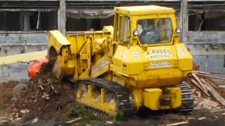 Komatsu D75S track loader working
