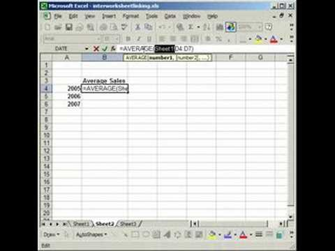 Linking Cells in Separate Worksheets in Excel - YouTube