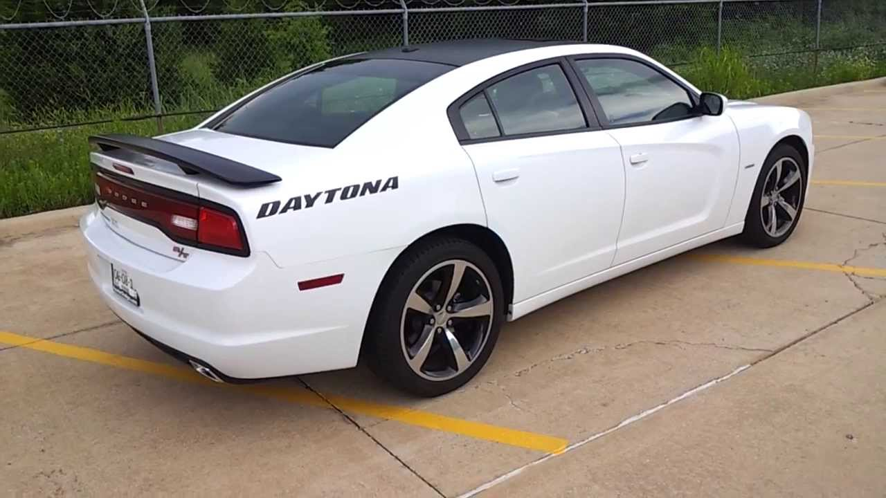 2013 charger daytona white edition youtube - Dodge Charger 2013 White Black Rims