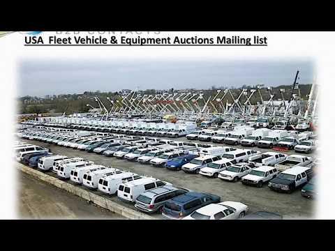 USA Fleet Vehicle Equipment Auctions Mailing list