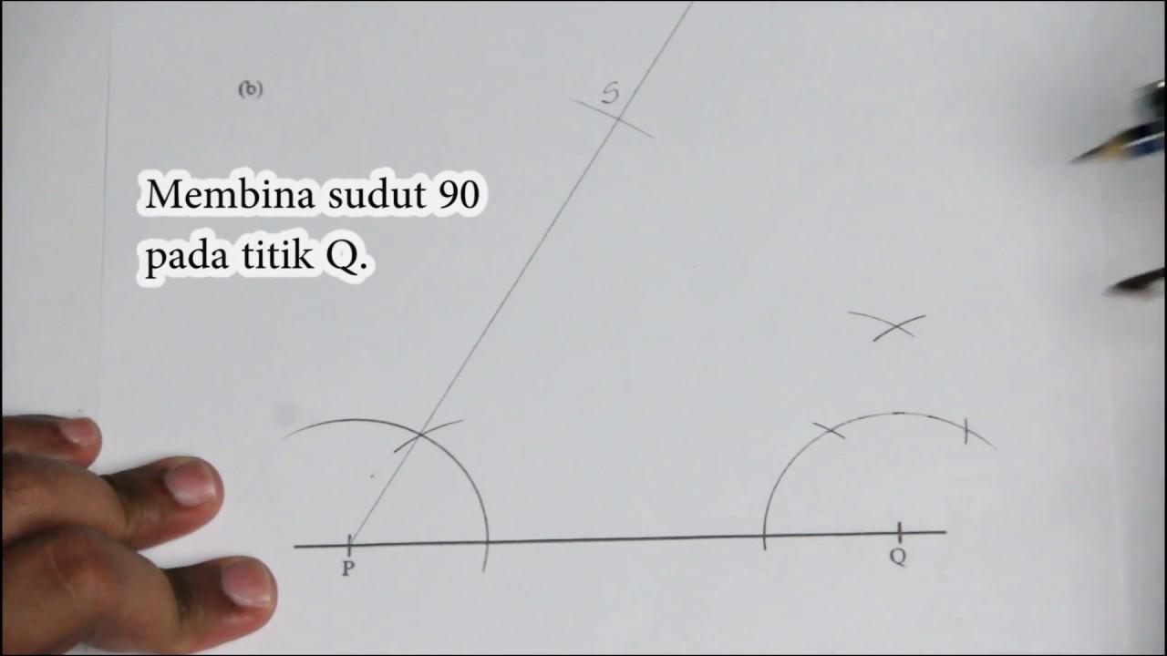 Matematik Tingkatan 2: Contoh Soalan Pembinaan Geometri 05