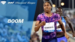 Caster Semenya dominates the field at the Women's 800m - IAAF Diamond League Doha 2017