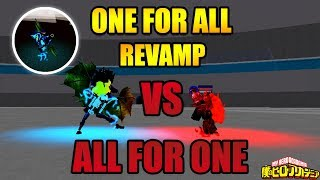 One For All Revamp VS All For One | Boku No Roblox Remastered