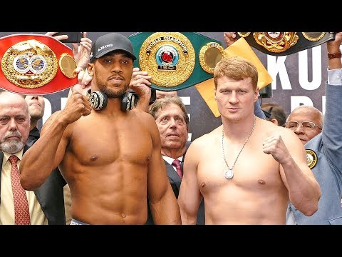 Anthony Joshua vs Alexander Povetkin FULL WEIGH IN & FINAL FACE OFF  Matchroom Boxing