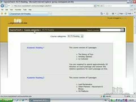 ExpressTeach.com 'Basic Site Navigation'